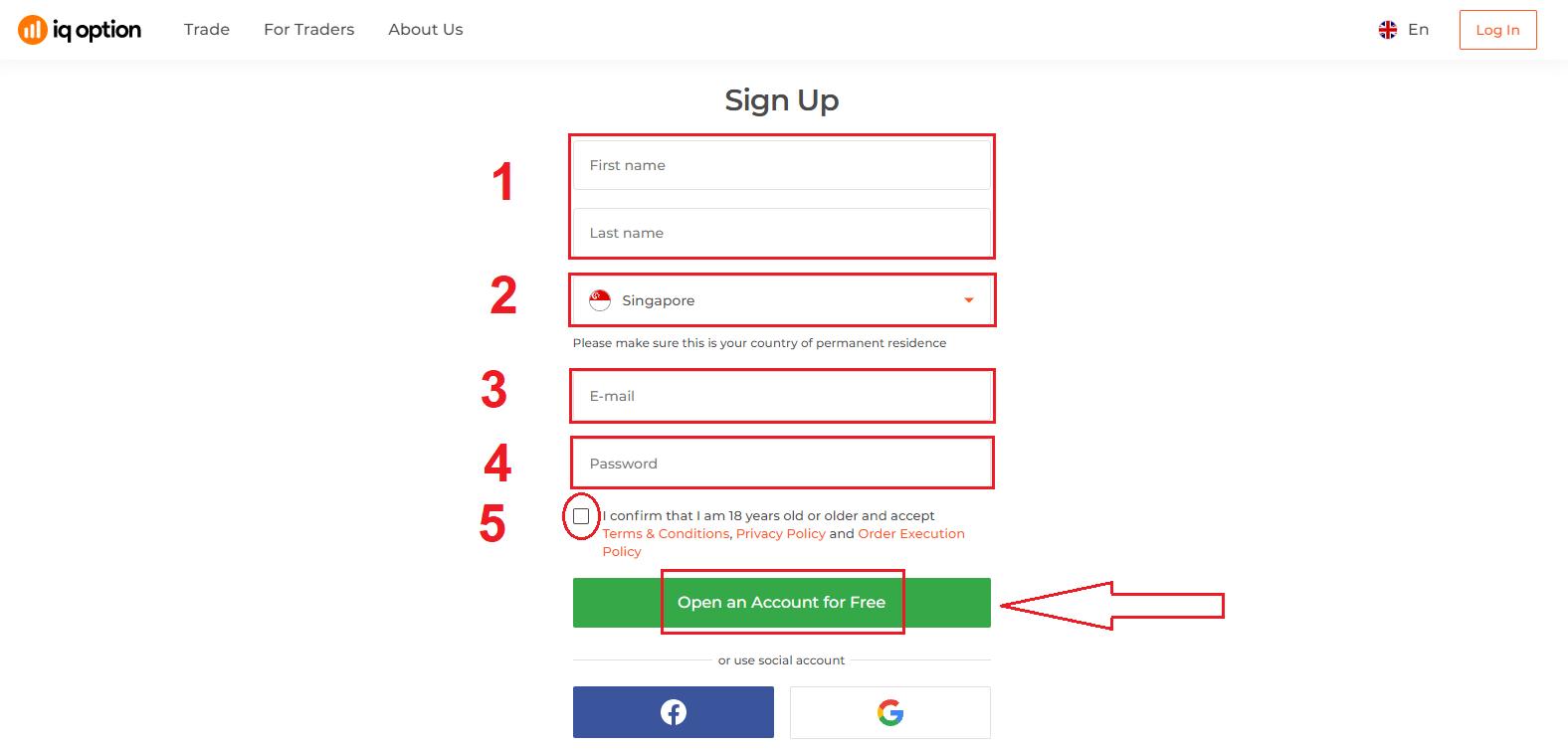 Cara Mendaftar dan Mendeposit Wang di IQ Option